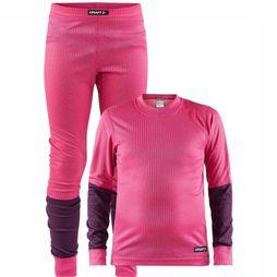 Craft Underwear Baselayer Set mid pink/dark purple