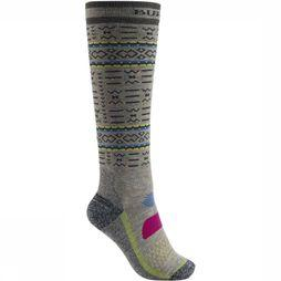 Burton Ski Sock Performance Midwt Wms light grey