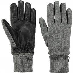 Barts Glove Bhric Gloves Light Grey Mixture/Black