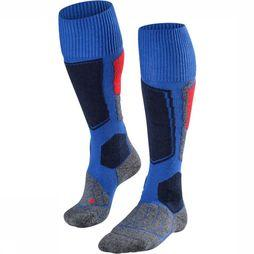 Falke Ski Sock Silk dark blue/red