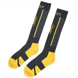 Spyder Ski Sock Men'S Sweep dark grey/yellow
