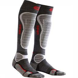Monnet Ski Sock Gel Protec Ski Wool mid grey/light grey