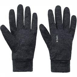 Barts Glove Merino Gloves Dark Grey Mixture