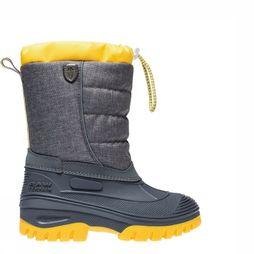 CMP Après Ski Boot Kids Hanki Melange Dark Grey Mixture/Yellow