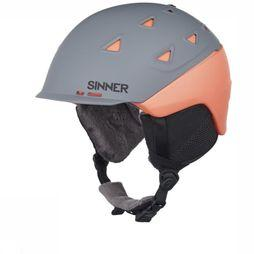 Sinner Casque de Ski Stoneham Gris Moyen/Orange