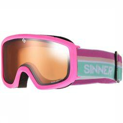Sinner Lunettes De Ski Duck Mountain Rose Clair/Orange