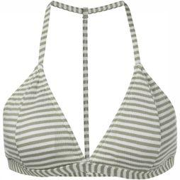 Yaya Bra Striped Bikini With Racer Back off white/mid khaki