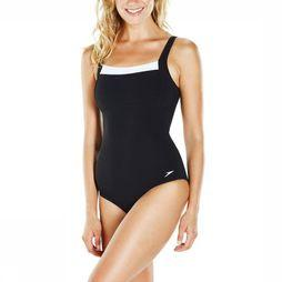 Speedo Bathing Suit Scu Cont Renew black/white