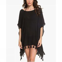 Roxy Robe Make Your Soul Poncho Sld Noir