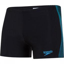 Speedo Slip E10 Placement Panel Aquashort Zwart/Middenblauw