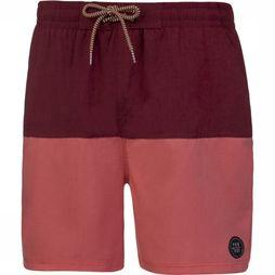 Protest Swim Shorts Texas 119 dark red/light red