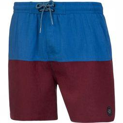 Protest Swim Shorts Texas 119 mid blue/dark red