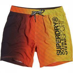 Superdry Short De Bain Sport Volley Orange