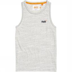 Superdry Top Orange Label Vintage Emb Gris Clair Mélange