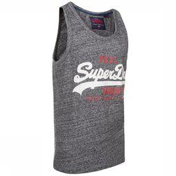 Superdry Top Vintage Logo Mid Weight Vest Dark Grey Mixture