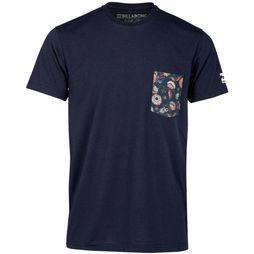 Billabong UV Clothing Team Pocket Tee Marine
