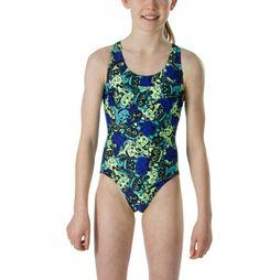 Speedo Bathing Suit Manekimeow yellow/royal blue