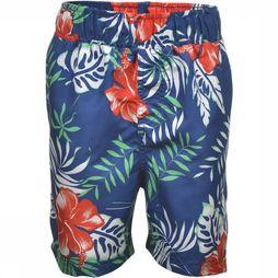 Rumbl Swim Shorts Flowers dark blue/Assortment Flower