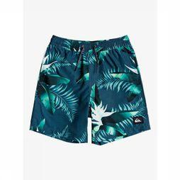 Quiksilver Swim Shorts Poolsider Volley Youth 15 blue/Assortment Flower