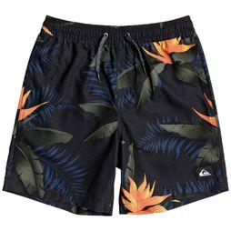 Quiksilver Swim Shorts Poolsider Volley Youth 15 black/Assortment Flower