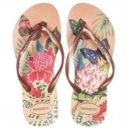Havaianas Slipper Slim Tropical Assortiment Bloem/Lichtroze