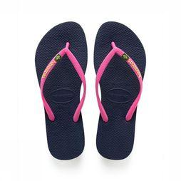 Havaianas Flip Flop Slim Brazil Logo dark blue/light pink