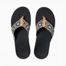 Reef Flip Flop Ortho-Bounce Woven black/off white