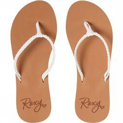 Roxy Tongs Costas Blanc/Brun Sable