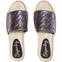 Superdry Tongs Maya Espadrille Brun Clair/Noir
