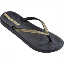 Ipanema Flip Flop Anatomic Mesh black/gold