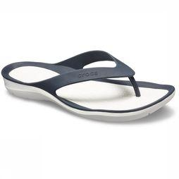 Crocs Tongs Swiftwater Flip marine/Blanc