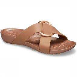 Crocs Slipper Serena Crossband Slide Brons