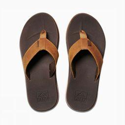 Reef Tongs Leather Fanning Low Brun