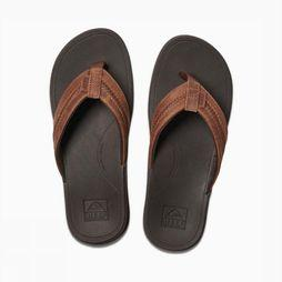 Reef Flip Flop Lthr Ortho-Bounce Coast brown