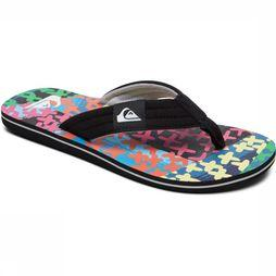 Quiksilver Tongs Molokai Layback Noir/Assortiment