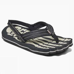 Reef Flip Flop Grom Skeleton black/white