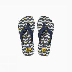 Reef Flip Flop Little/Kids Ahi Marine/Yellow