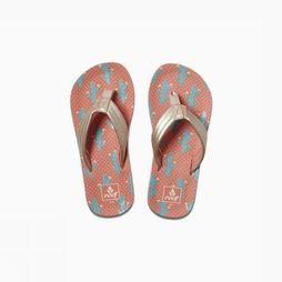 Reef Tongs Little/Kids Ahi Rose Moyen/Bleu