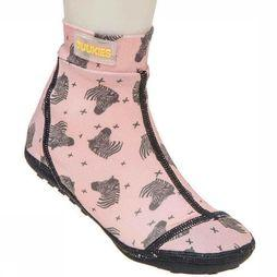 Duukies Beachsocks Shoe Zebra Peach Antracite light pink/mid grey