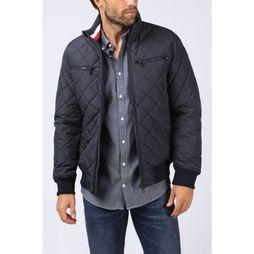 Jas Striped Rib Quilted Bomber