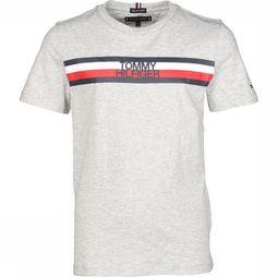 Tommy Hilfiger T-Shirt Th Global Tee Gris Clair Mélange
