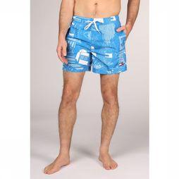 Tommy Hilfiger Short De Bain Th Medium Drawstring Bleu Clair/Assortiment Géométrique
