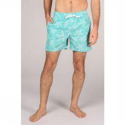 Tommy Hilfiger Short De Bain Th Medium Drawstring Turquoise/Blanc