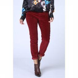 Yaya Trousers Velvet mid red