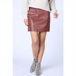 Yaya Rok Leather-Look Short Bordeaux