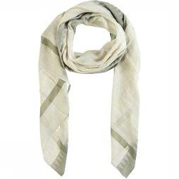 Yaya Sjaal Scarf With Jacquard Edges Middenkaki