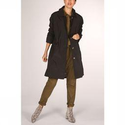 Yaya Manteau Oversized Trench Coat Noir