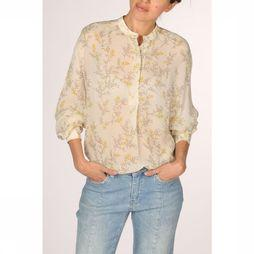 Yaya Blouse Blouse With Flower Print Gebroken Wit/Assortiment Bloem