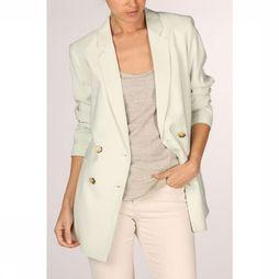 Yaya Blazer Double Breasted Pastel Colored Lichtgroen