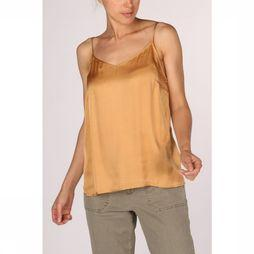 Yaya Blouse Strappy Shine Fabric Mix Roest